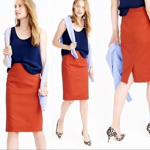 J. Crew No.2 Pencil Skirt in cotton twill size 2